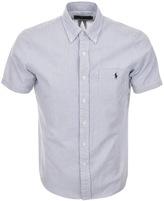 Ralph Lauren Striped Seersucker Shirt Blue