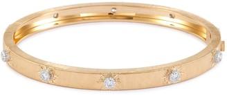 Buccellati 'Macri Classica' diamond 18k yellow gold bangle