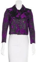 Proenza Schouler Silk-Blend Cropped Jacket
