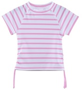 Snapper Rock Pink Striped UPF 50+ Rash Top