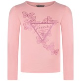 GUESS GuessPink Long Sleeve Butterfly Top