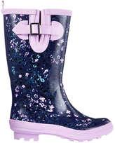 Joe Fresh Kid Girls' Belted Rain Boots, Purple (Size 6)