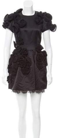 Dolce & Gabbana Crochet-Accented Mini Dress