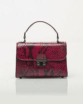 Le Château Leather-Like Python Shoulder Bag