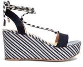 Gianvito Rossi Striped wedge sandals
