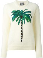 Fausto Puglisi embroidered palm tree jumper
