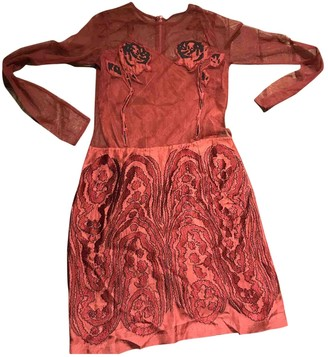 Opening Ceremony Burgundy Silk Dresses