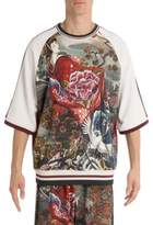 Dolce & Gabbana Geisha Three-Quarter Sleeve Tee
