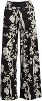 Glam Black & Gray Floral Palazzo Pants