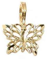 FindingKing 14K Gold Butterfly Charm