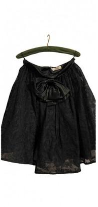 Christian Dior Black Linen Skirt for Women Vintage