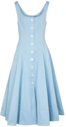 STAUD Loretta cotton-blend midi dress