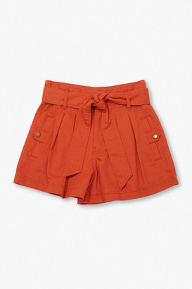 Forever 21 High-Rise Tie-Waist Shorts