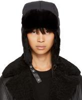 Mackage Black Quilted Fur Mezlan Hat