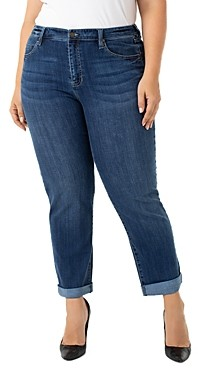 Liverpool Los Angeles Plus Liverpool Plus Peyton Slim Boyfriend Jeans in Edgewater