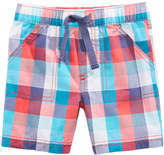 First Impressions Plaid-Print Cotton Shorts, Baby Boys, Created for Macy's