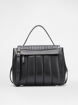 DKNY Quilted Nappa Leather Pinstripe Flap Bag