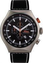 Avio Men's 50 MM SILVER Aluminum Case Chronograph Tachymeter Date Watch