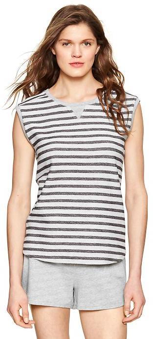 Gap Terry stripe sleeveless shirt