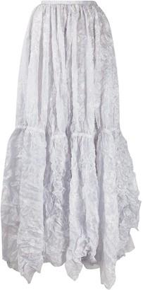 Nina Ricci Creased Maxi Skirt