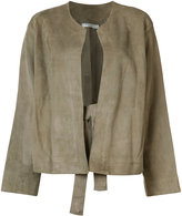 Vince plain jacket - women - Silk/Lamb Skin - S
