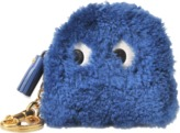 Anya Hindmarch Coin Purse Ghost in Blueberry Shearling