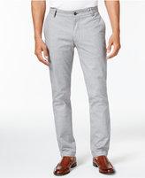 Vince Camuto Men's Slim-Fit Check Cotton Pants