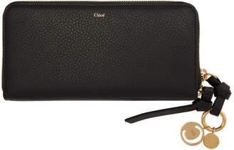 Chloé Black Alphabet Long Wallet