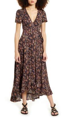 LIRA Valentina Paisley Print Wrap Maxi Dress