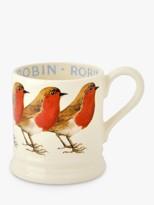 Emma Bridgewater Robin Half Pint Mug, Red/Multi, 280ml