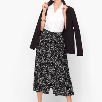 Talbots Dot Button Front Skirt