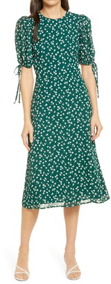 Reformation Oakley Floral Print Midi Dress