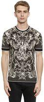 Dolce & Gabbana Mary W/Child Print Cotton Jersey T-Shirt