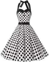 Dressystar Vintage Polka Dot Retro Cocktail Prom Dresses 50's 60's Rockabilly Bandage l