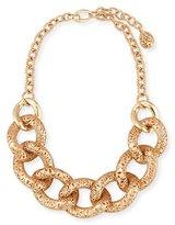 Pomellato Arabesque Carved Link Necklace in 18K Rose Gold