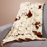 Faux Fur Throw, Cow Print