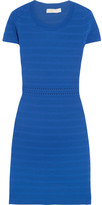 MICHAEL Michael Kors Ribbed Stretch-jersey Dress - Blue