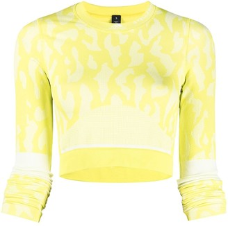 adidas by Stella McCartney Abstract-Print Cropped Top