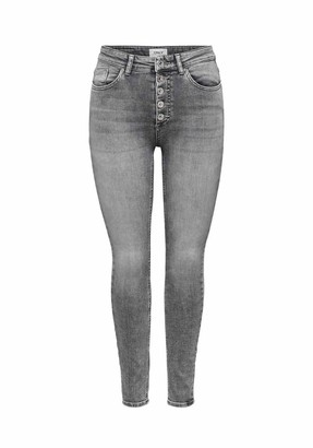 Only Women's ONLBLUSH HW Button SK ANK BB REA0918 Jeans