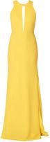 Carla Zampatti Fan Tail Gown in Yellow