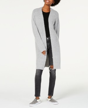 Hooked Up By Iot Hooked Up by Iot Juniors' Cozy Rib-Knit Cardigan