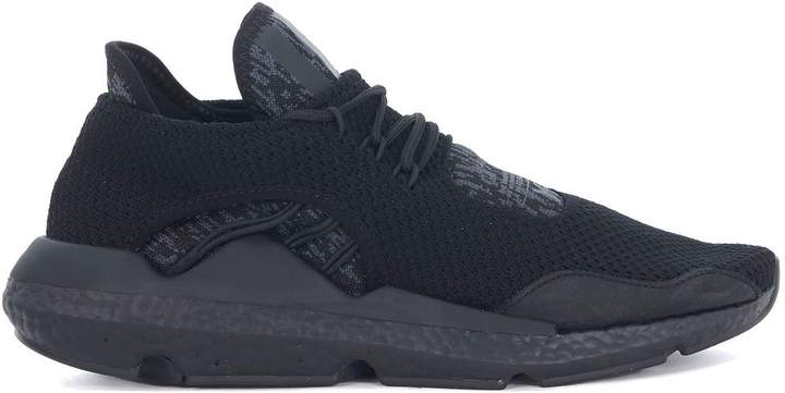 Y-3 Saikou Black And Grey Technical Fabric And Suede Sneaker