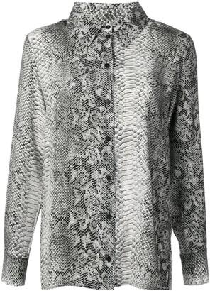Gold Hawk python print blouse
