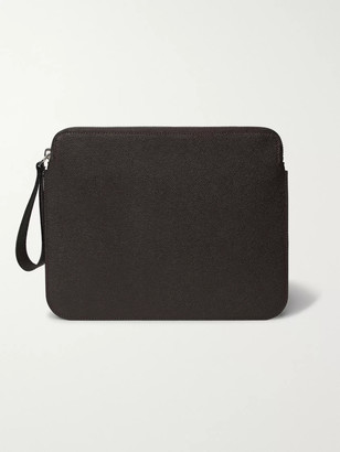 Valextra Pebble-Grain Leather Ipad Case