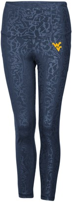 Colosseum Women's Navy West Virginia Mountaineers Chasse Textured Leggings