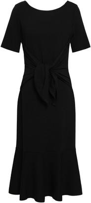 Oscar de la Renta Fluted Stretch-wool Dress