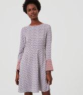 LOFT Magnolia Bell Sleeve Dress
