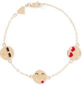 Alison Lou I'm A Flirt Enameled 14-karat Gold Bracelet - one size