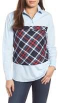 Pleione Plaid Corset Shirt