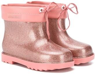 Mini Melissa Glittered Rain Boots